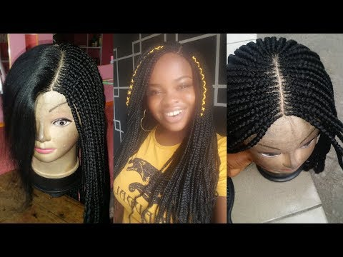How to make a braided wig/Ghana weaving wig with expression hair(tutorial)