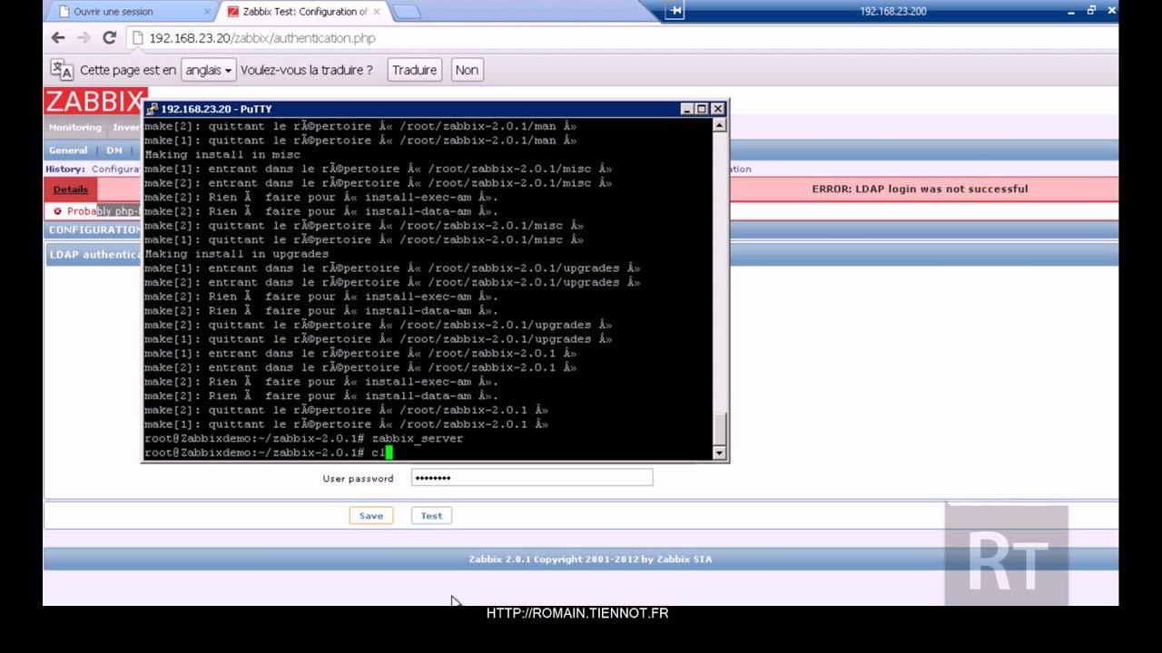 Zabbix - Authentification LDAP