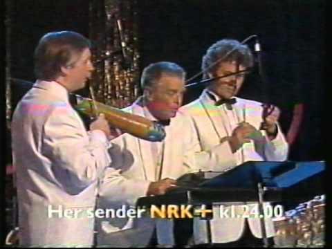 Andreas Diesen og Harald Tusberg med rytmeseksjonen på NRK 1990