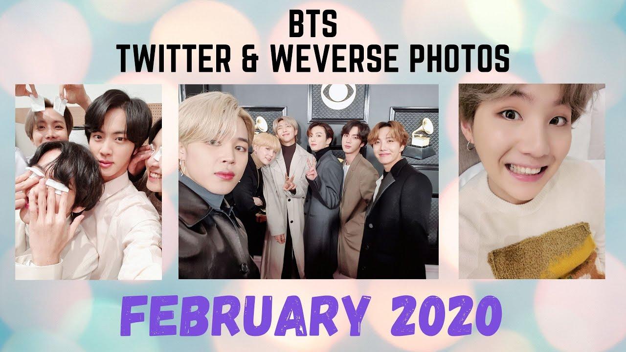 BTS Twitter WeVerse Photo & Video Update - February 2020 ...