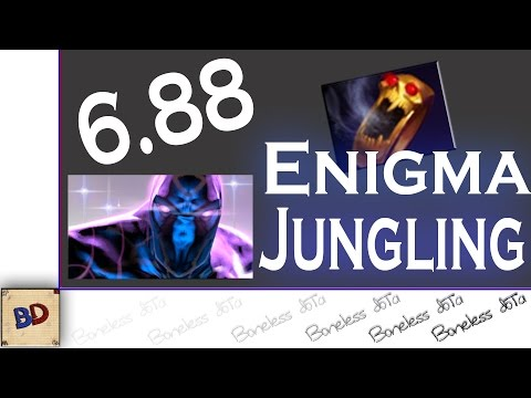Dota 2 6.88 | Enigma Jungle Guide With Commentary | 03:45 Level 6