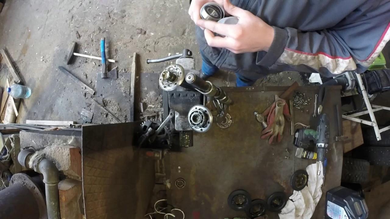 Ремонт катков тележки замена подшипников на  Мотособаке Лебедев либо на Снегоход типа Буран