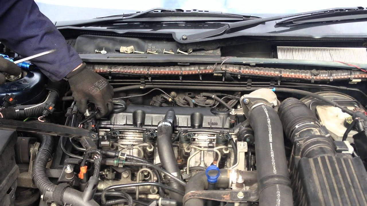 rocker cover gasket replacement - peugeot 406 2.0 hdi 110 - youtube