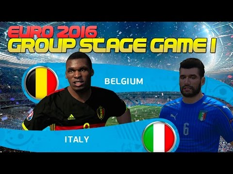 [TTB] PES 2016 Euro 2016 – Italy Playthrough – Italy vs Belgium – Group Stage Game 1