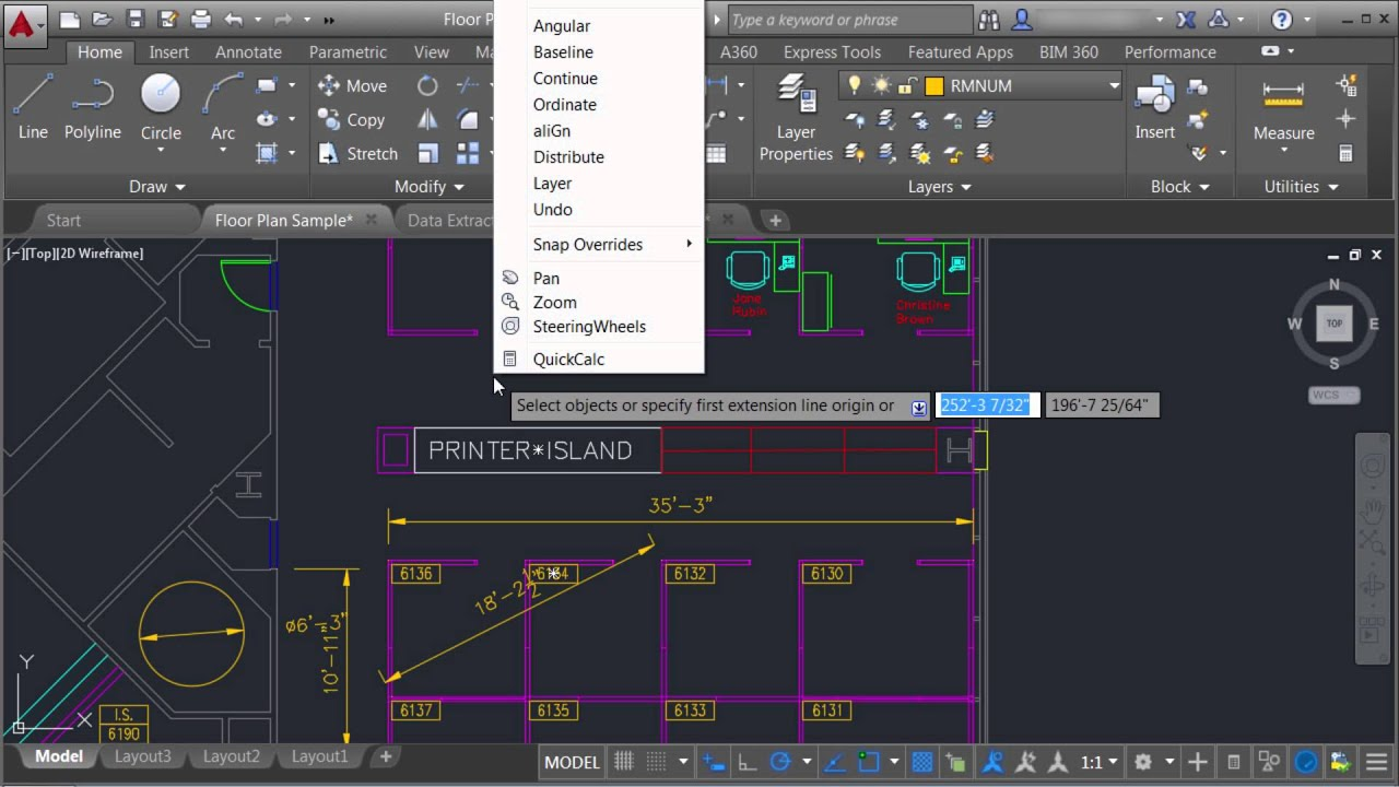 how to get the dimensions of a line in autocad