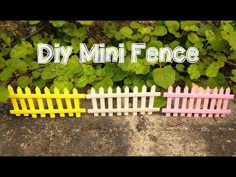 DIY Mini fence for dollhouse and fairy gardens