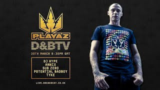 Tyke & MC Carasel - PLAYAZ on D&BTV @ LIVE 30.03.2016