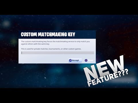 live custom matchmaking keys fortnite