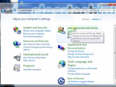 Windows 7, How-To Create a New Standard User and Administrator account