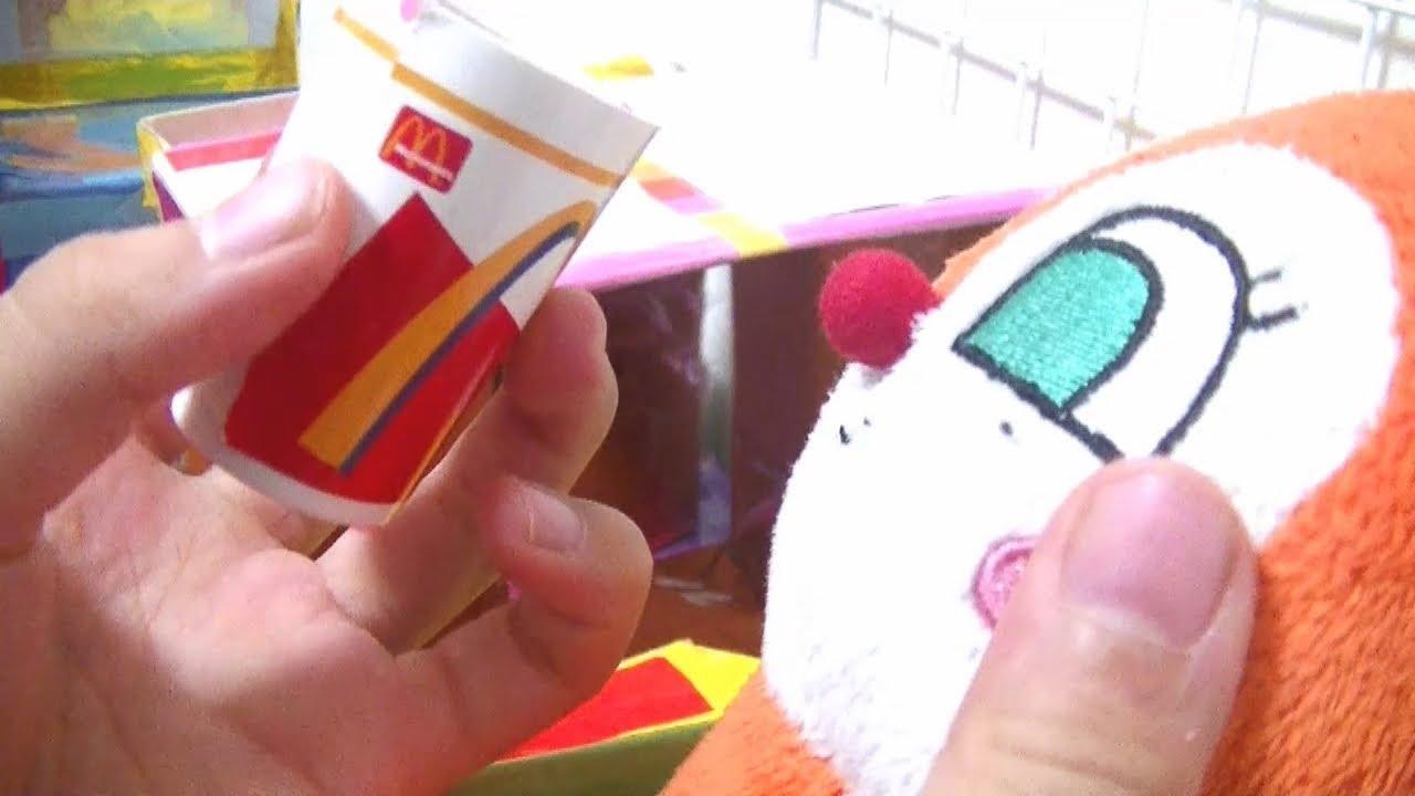 アンパンマン おもちゃアニメ マクドナルドでハンバーガー あれをこぼして大変?!McDonalds' Hamburger!