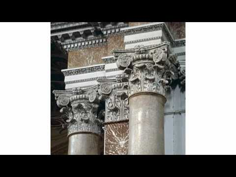 Roman architecture and furniture