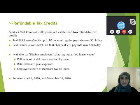 Covid 19 related Individual and Business Tax Relief | Sr. Sara Khan CPA