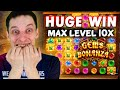 MAX LEVEL GEMS BONANZA Bonus Buy, LEVEL 5 (10x) - BIGGEST CASINO SLOTS WINS
