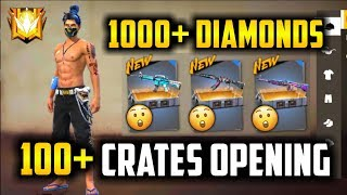 Shocked 100+ Guns Crates Opening Must Watch - Garena Free Fire- Total Gaming