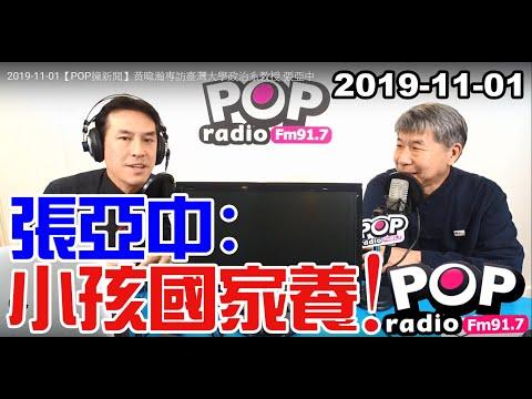 2019-11-01【POP撞新聞】黃暐瀚專訪張亞中「張亞中:小孩國家養!」