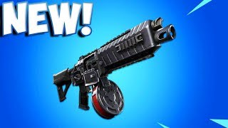 NEW DRUM SHOTGUN COMING TO FORTNITE - DRUM SHOTGUN STATS (Fortnite Battle Royale)