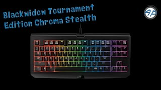 Blackwidow Tournament Edition Chroma Stealth Keyboard Unboxing and Review