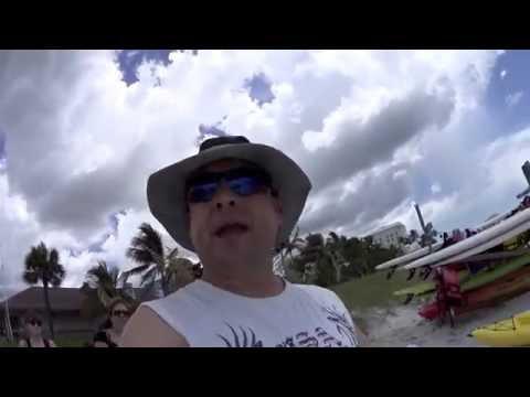 """MUITO MASSA!!! """"LOWDERMILK BEACH"""" EM NAPLES FLORIDA. PEPINO COM MOTORISTAS E EU CONTRA MÃO!!!"""