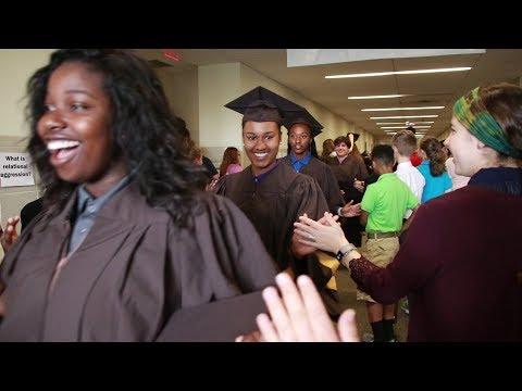 Milton Hershey Seniors '18 walk the halls of their Middle School