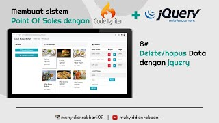 Download 8# delete data | Tutorial Pos (Point Of Sales) dengan Codeigniter3 + jQuery