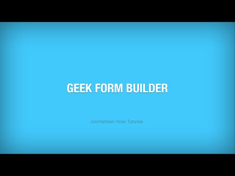 Geek Form Builder component - The Ultimate Joomla! Form Builder