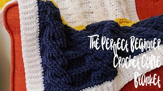 How to crochet a cable blanket • beginner crochet pattern • how to crochet a blanket
