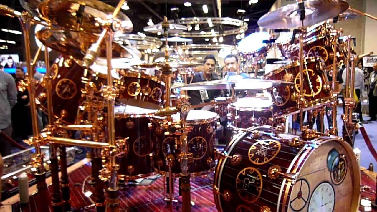 Neil Peart S Drum Kit At Namm2011 Youtube