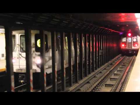 Cortlandt Street (BMT Broadway Line) Action! (Weekend G.O.)