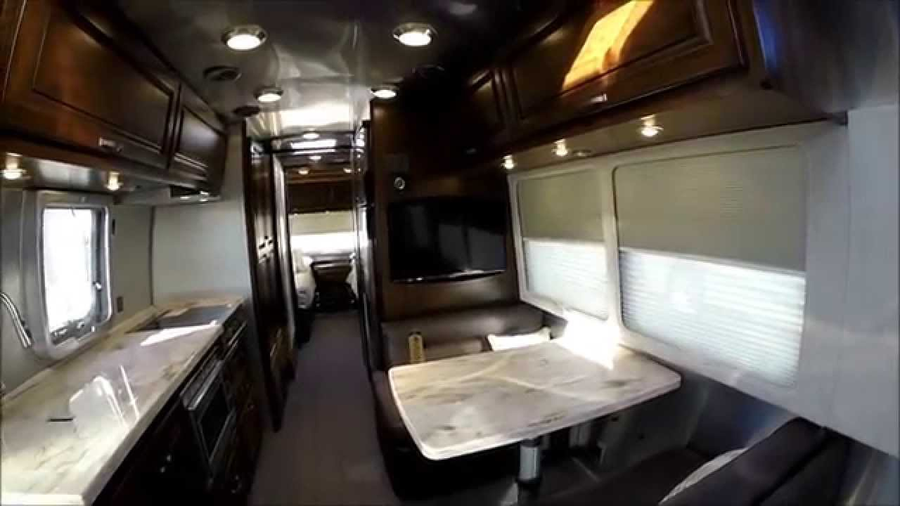 Walk Through 2015 Airstream Classic 30A Rear Twin Luxury Travel Trailer