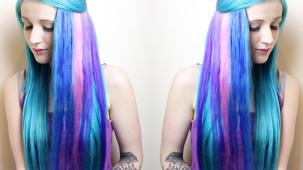 Sparks Colour Hair Dye Tutorial Youtube