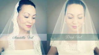 DIY Wedding Veil : Lace Trim(Drop, Ballet Length, and Mantilla Veil)