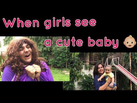 When girls see a cute baby | Ashish Chanchlani