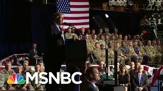 As President, Trump Listens To Generals On Afghanistan | Morning Joe | MSNBC