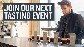 Join Our Next Live Coffee Tasting Event