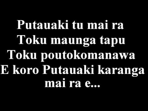 Putauaki with lyrics.wmv