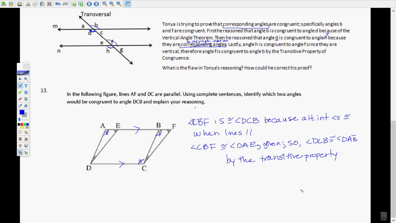 FSA Geometry EOC Review Video #2 13-15 only - YouTube