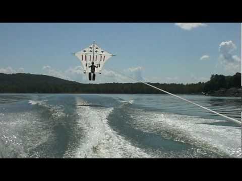 Raven Water Ski Flat Kite -  John's Flight 2009