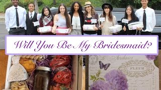 Will You Be My Bridesmaid? Wedding DIY Gift Box & Surprises! Part 1 | BiancaReneeToday