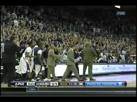 Washington Huskies vs. Arizona Wildcats Basketball 2011 Part 2