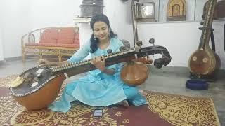 Yenammi Yenammi song from the movie Ayogya played on veena by Monica