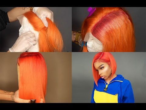 ALI GRACE  ALIEXPRESS  ORANGE WIG REVAMP REVIEW + TUTORIAL  RED ROOTS