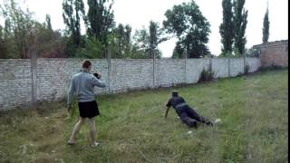 """Пивометание бойца в АТО 1. Аватар кидает """"гранату"""""""