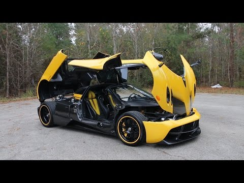 Opening up the Pagani Huayra ft. the $2.5Million Ferrari F60 America