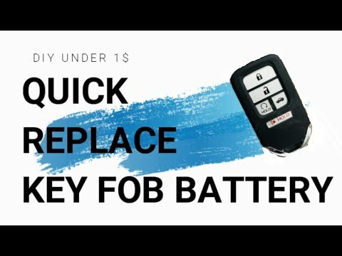 How to replace Key Fob Battery for 2013-2018 Honda Accord!