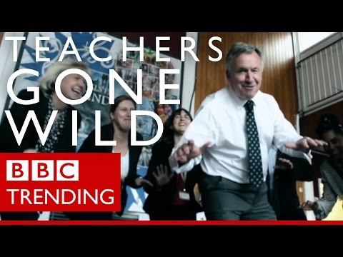 Teachers bust dance moves for school leavers - BBC Trending