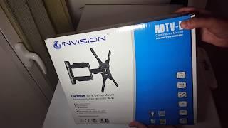 """Gambar cover INVISION STAFFA TV 24""""-55"""" HDTV-E - a parete, recensione braccio by AMAZON"""