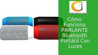 Como Configurar Altavoz Portátil De Luces Inalámbrico, Con Bluetooth, Radio, MicroSD  Q600