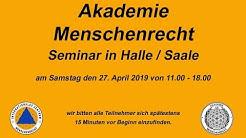 """Akademie MR: Grundlagen des Recht(s)"""" am 27.04.2019 in Halle / Saale"""
