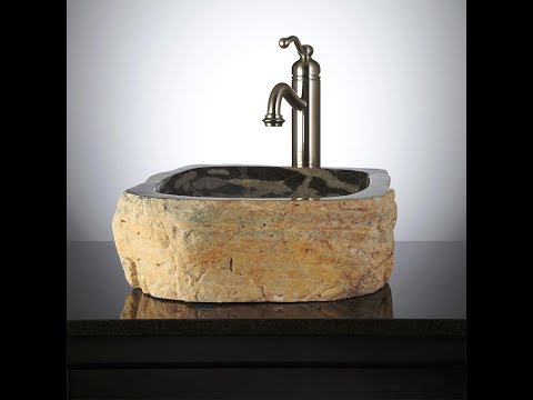 25 Natural Stone Sink Design Ideas