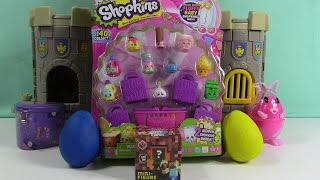 shopkins play doh surprise eggs season 2 unboxing minecraft opening   bluehippotoys